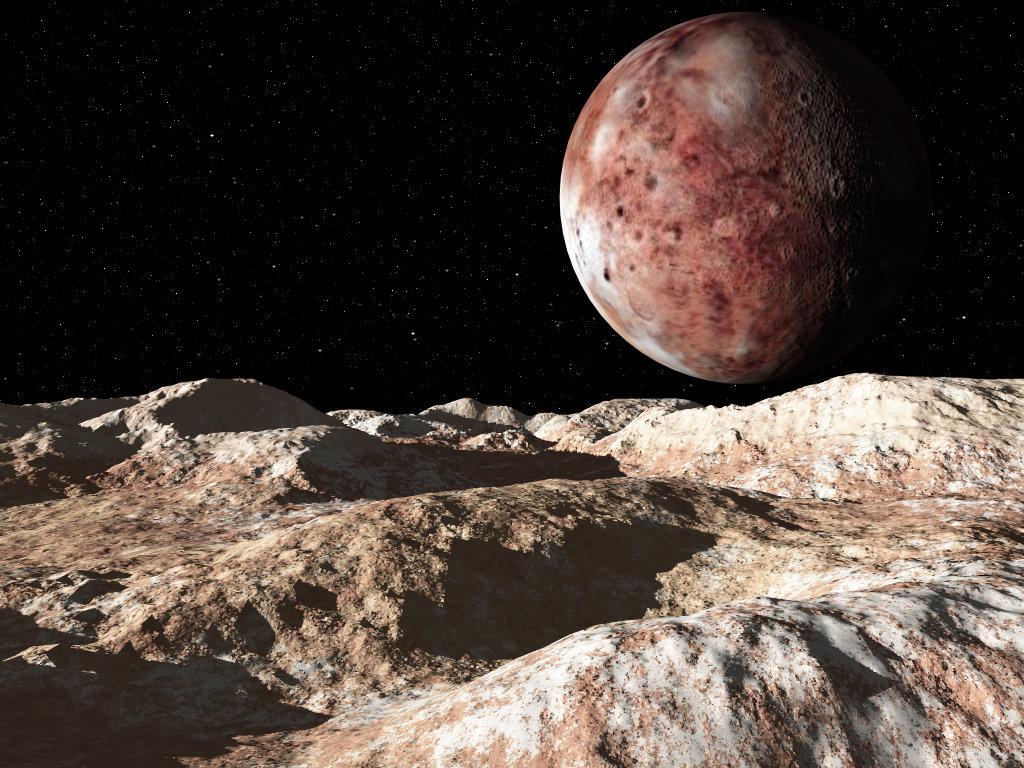 Charon Moon: Pluto And Charon
